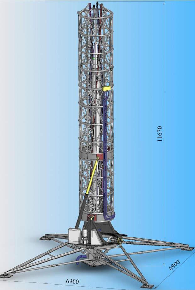 Пусковая установка ПН-30 с ракетой МН-300