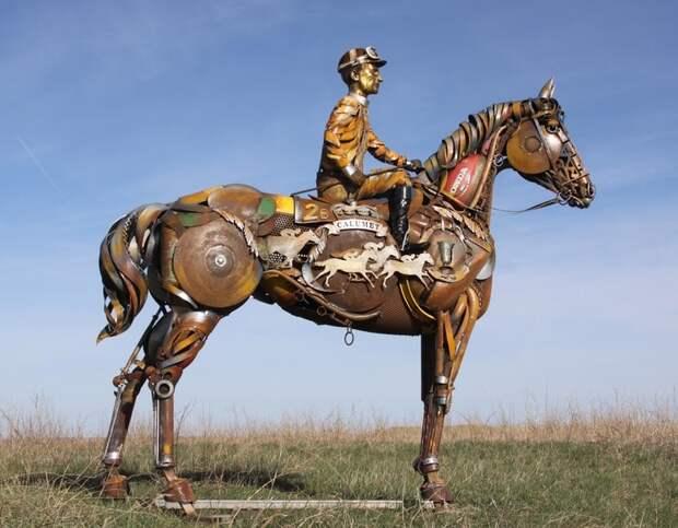 Креативные скульптуры, выкованные из «обломков цивилизации»