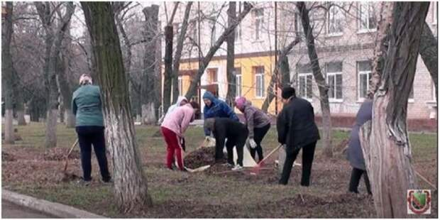 Горловчане приняли участие во II весеннем общереспубликанском субботнике