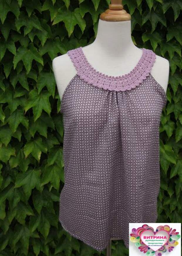 Если скомбинировать вязание и ткань, можно создать своими руками неповторимые наряды на лето!