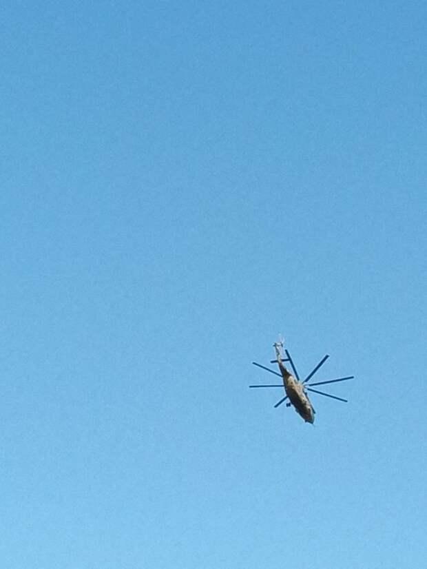 Фото дня: вертолет над Некрасовкой