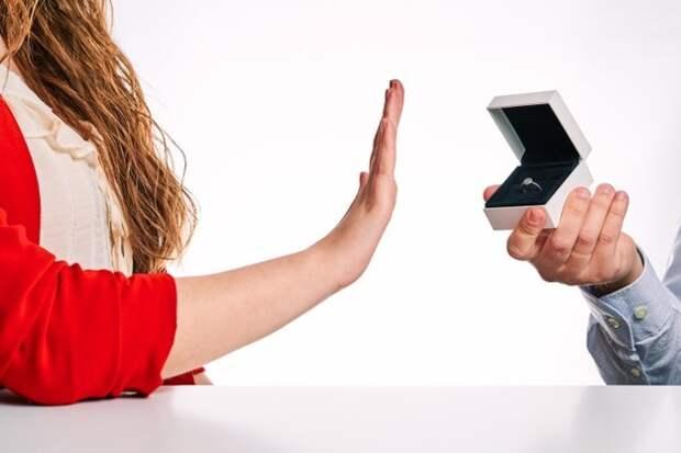 девушка отказывается от кольца