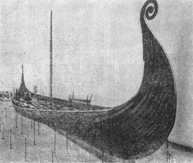 Суда викингов.  Судно из Усеберга
