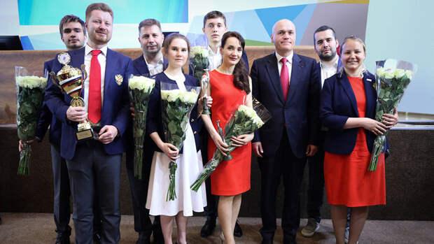 Сборная России пошахматам получила премию «Серебряная Лань»