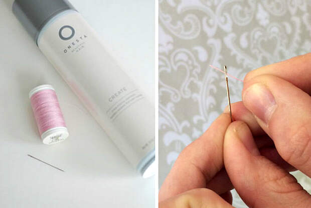 Нестандартное использование лака для волос.
