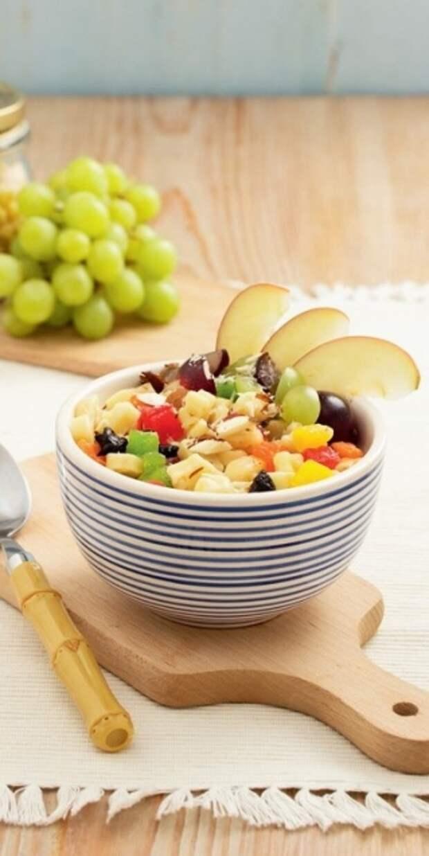 5 завтраков за 10 минут  - «Веселые» макарончики с цукатами и орехами - Портал Домашний