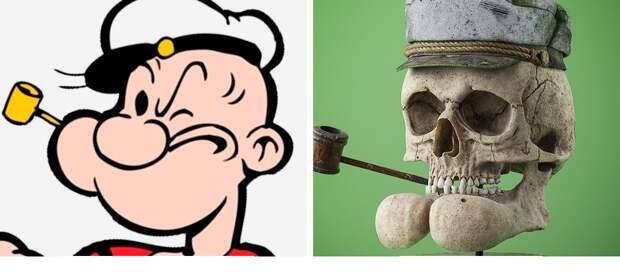 Как выглядели бы черепа мультяшных персонажей?