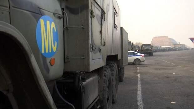 Для российских миротворцев установили еще один модульный городок в Карабахе