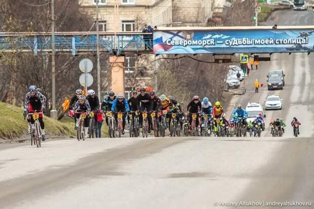 В Североморске прошла велогонка в гору
