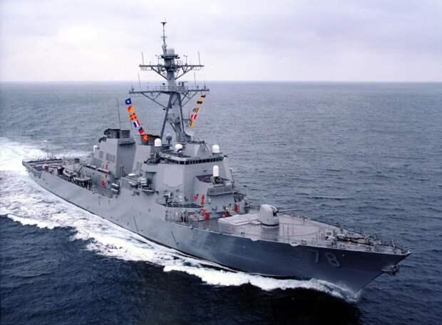 """Эсминец """"Портер"""" ВМС США в Черном море. Источник изображения:"""