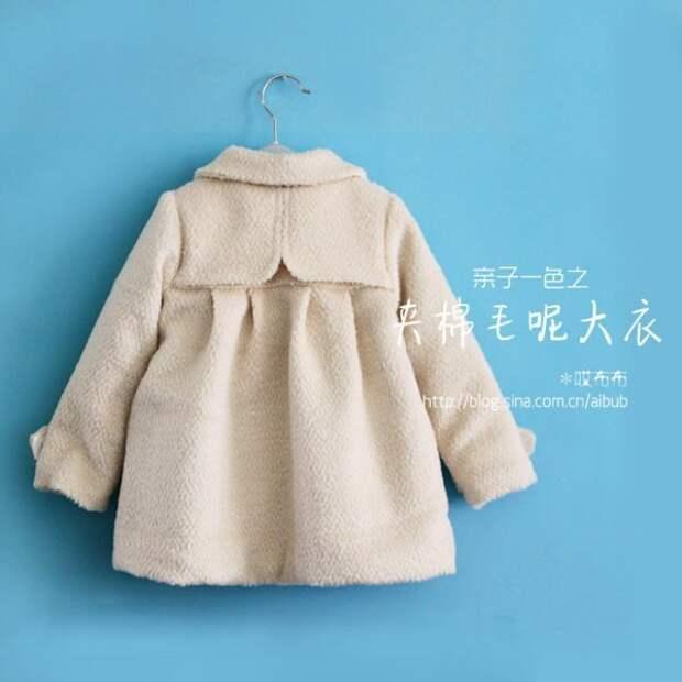 Выкройка детского пальто на рост 98 см