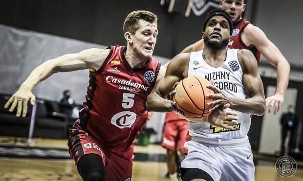 В ¼ финала Лиги чемпионов баскетболисты «Нижнего Новгорода» сыграют с испанской «Сарагосой»