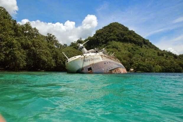 12 затонувших кораблей, накоторые можно посмотреть без акваланга