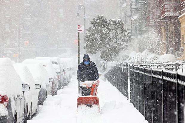Они называют ЭТО снежной бурей )))