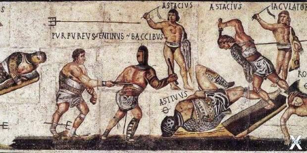 Гладиаторы. Римская мозаика