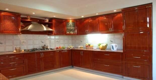Отличное решение для декорирования кухни в оригинальных деревянных мотивах, что создадут просто потрясающий интерьер.