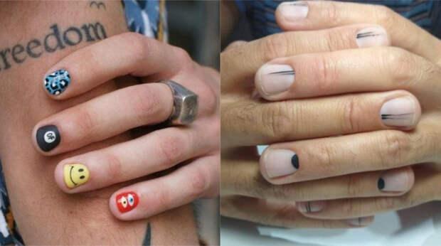Чтобы в тренде быть: как мужчины красят ногти