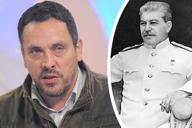 """Максим Шевченко: """"Думаю, проживи Сталин еще какое-то время: гораздо раньше полетел бы Гагарин в космос, гораздо раньше была бы модернизирована армия. А сталинские дома, которые до сих пор считаются лучшими, стали бы главным жилищем советского народа""""."""