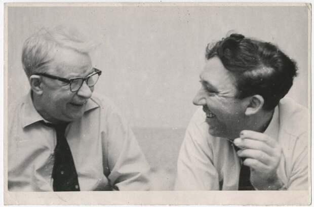 Юрий Никулин и Михаил Румянцев Семен Мишин-Моргенштерн, 1970 год, МАММ/МДФ.