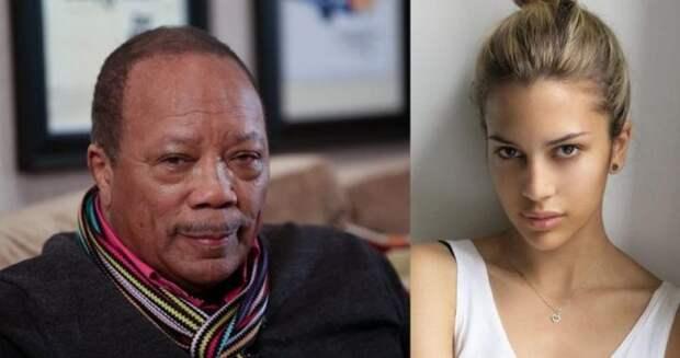 11 место. Куинси Джонс и Кения Кински (Quincy Jones, Kenya Kinski) дочь, знаменитость, отец