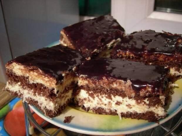 Шоколадно-кокосовый торт.