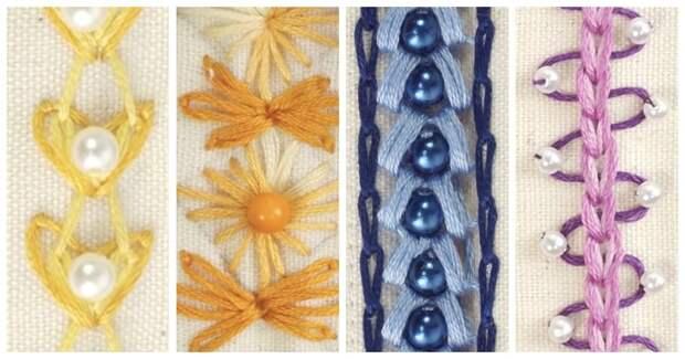 Невероятно красивая и простая вышивка для украшения одежды