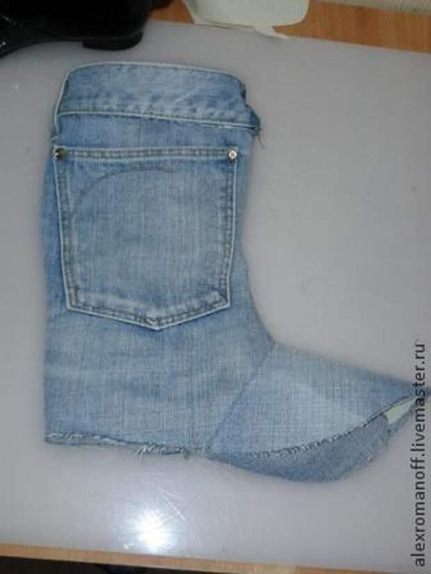 Как сделать обувь из джинсов: мастер-класс