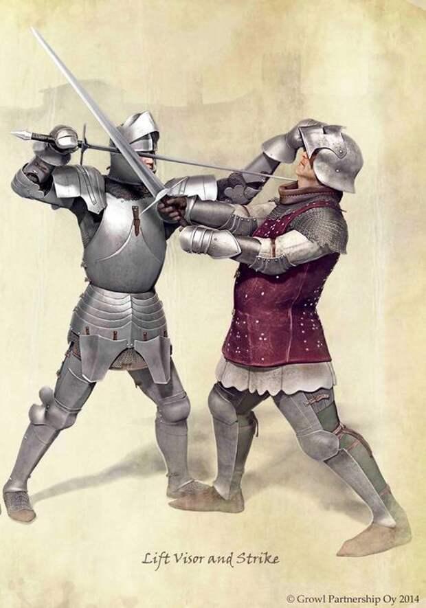 Приёмы фехтования 15 века.