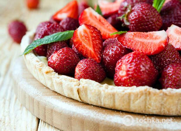 Клубничный пирог: пошаговый рецепт яркого десерта