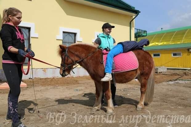 Детей с инвалидностью из Петербурга лечат ездой на лошадях