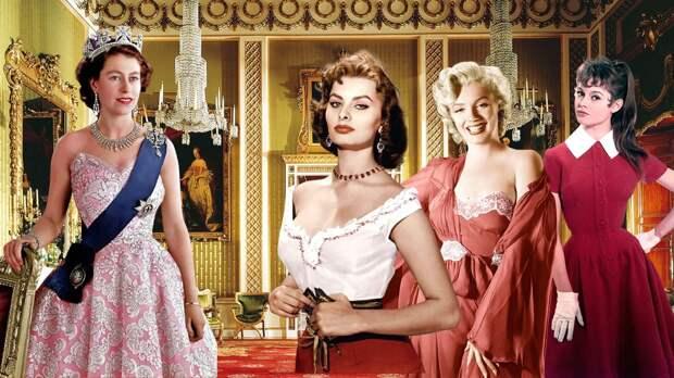 От Мэрилин Монро до Анджелины Джоли: фотографии всемирно известных женщин на приеме у королевы Елизаветы II