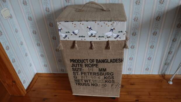 3 пустых ящика и немного мешковины, превращенные в незаменимую вещь для дома