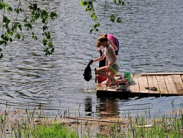 Каникулы в деревне деревня, каникулы, природа