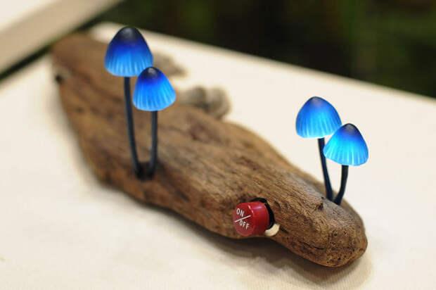 Светодиодные грибы. Лампа.