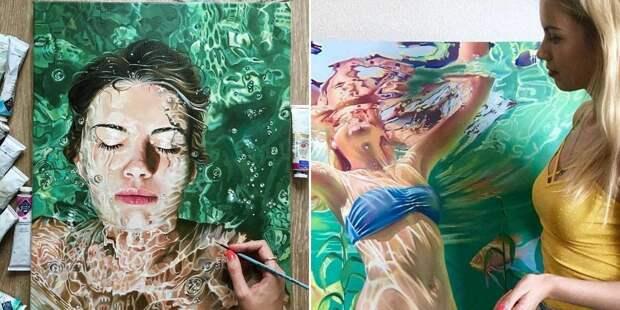 «Море волнуется раз!»: питерская красавица Анастасия Морская пишет удивительные картины