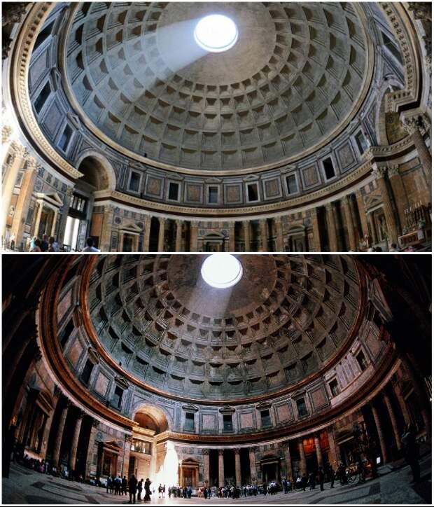 Считается, что римский Пантеон был и местом поклонения богам и древней обсерваторией.   Фото: delovoy-kvartal.ru/ rome-with-love.ru.